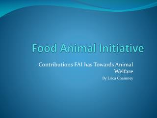 Food Animal Initiative
