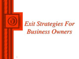 Exit Strategies For Business Owners