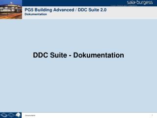 PG5 Building Advanced / DDC Suite 2.0 Dokumentation