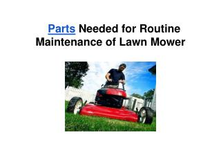 Tips on General Lawn Mower Maintenance