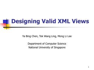 Designing Valid XML Views