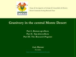 Grupo de Investigación en Ecología de Comunidades de Desierto