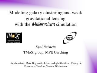 Modeling galaxy clustering and weak gravitational lensing  with the  Millennium  simulation