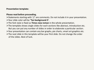 Presentation template: Please read before proceeding.