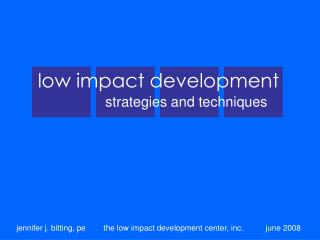 low impact development