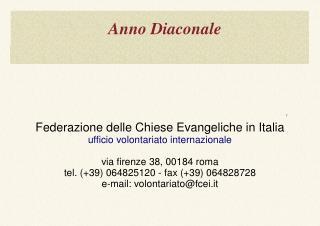 Anno Diaconale