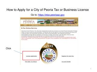 How to Apply for a City of Peoria Tax or Business License