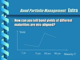 Bond Portfolio Management:   Extra