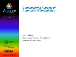 Combinatorial Aspects of Automatic Differentiation