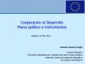 Cooperaci n al Desarrollo Marco pol tico e instrumentos
