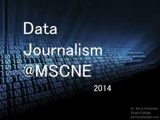 Data  Journalism @MSCNE