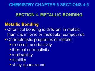 Metallic Bonding