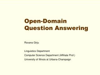 Open-Domain Question Answering