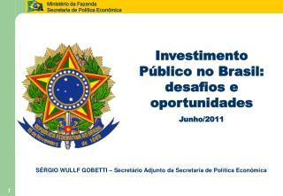 Investimento Público no Brasil: desafios e oportunidades Junho/2011
