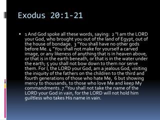 Exodus 20:1-21