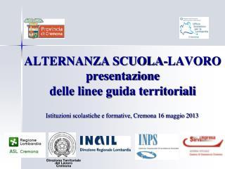 ALTERNANZA SCUOLA-LAVORO presentazione  delle linee guida territoriali
