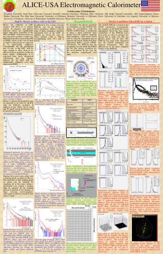 ALICE-USA Electromagnetic Calorimeter