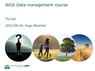 WGS Data management course