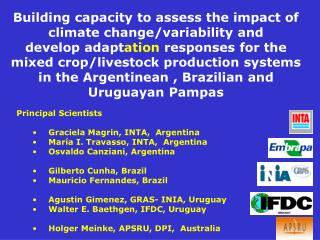 Building capacity to assess the impact of  climate change