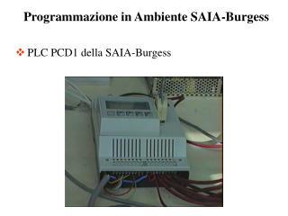PLC PCD1 della SAIA-Burgess