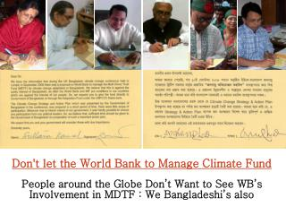 Don't let the World Bank to Manage Climate Fund