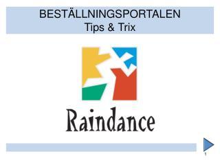 BEST�LLNINGSPORTALEN Tips & Trix