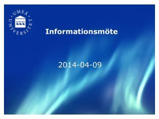 Informationsm�te
