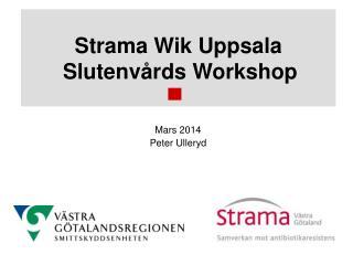 Strama Wik Uppsala Slutenvårds Workshop