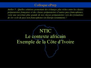 Colloque ePrep