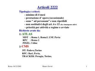 Articoli 2222