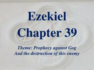 Ezekiel  Chapter 39