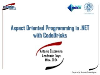 Aspect Oriented Programming in .NET with CodeBricks
