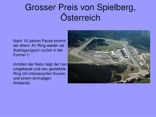Grosser Preis von Spielberg, Österreich