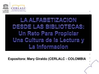 Expositora: Mary Giraldo CERLALC - COLOMBIA