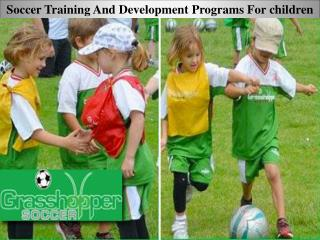 Soccer Training And Development Programs For children