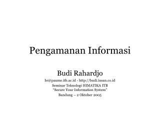 Pengamanan Informasi