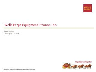 Wells Fargo Equipment Finance, Inc.