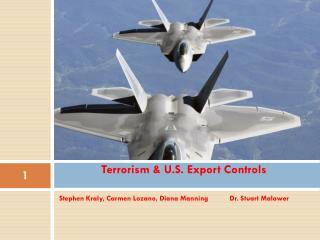 Terrorism & U.S. Export Controls