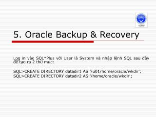 5. Oracle Backup & Recovery