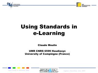 Using Standards  in  e-Learning