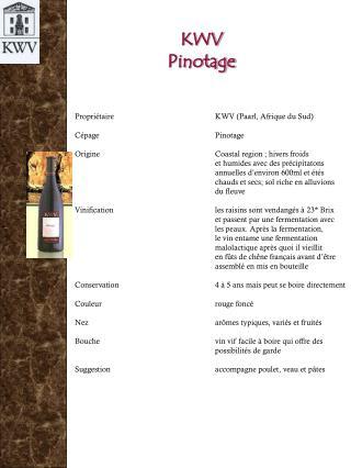 KWV Pinotage