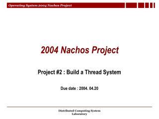2004 Nachos Project