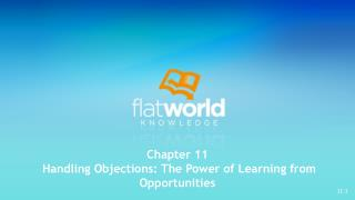 Chapter 11  Handling Objections: The Power of Learning from Opportunities