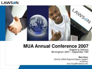MUA Annual Conference 2007
