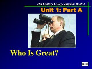 Unit 1: Part A