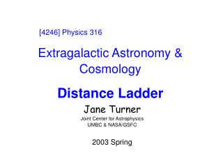 Extragalactic Astronomy & Cosmology Distance Ladder