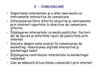 E - COMUNICARE