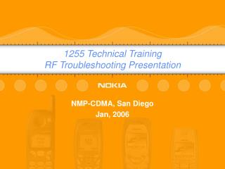 1255 Technical Training RF Troubleshooting Presentation