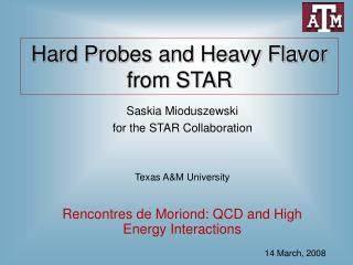 Hard Probes and Heavy Flavor from STAR