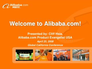 Welcome to Alibaba!